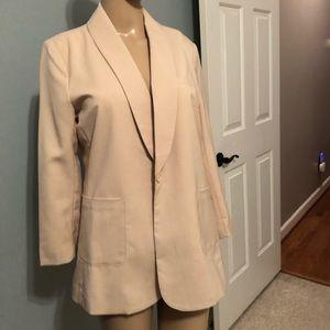 Jackets & Blazers - Cream blazer w yellow lining Sz Large. NWT